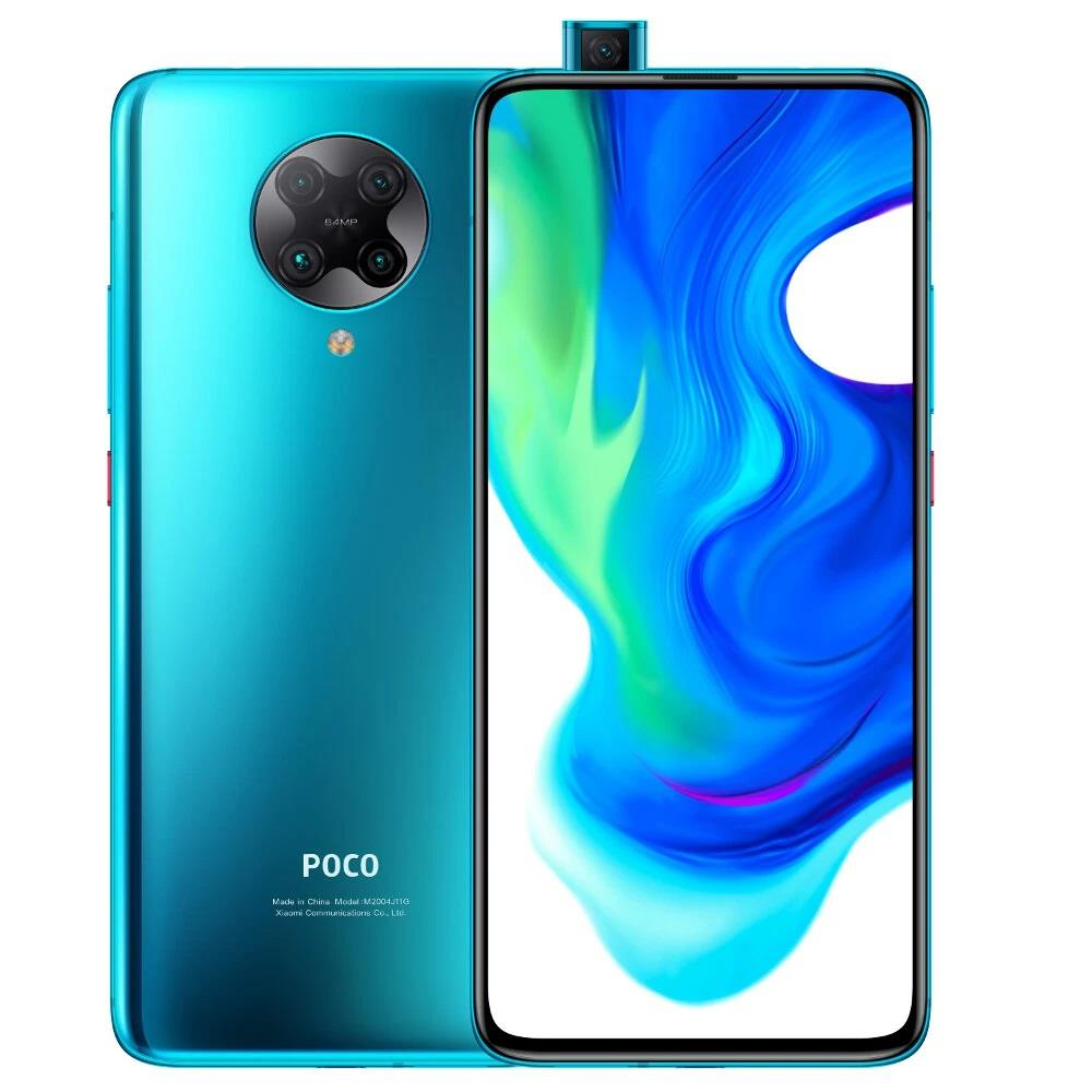 POCO F2 Pro Global Version 5G Smartphone 6.67 Inch AMOLED Full Screen Qualcomm Snapdragon 865 Android 10.0 8GB RAM 256GB ROM Quad Rear Camera NFC 4700mAh Battery - Neon Blue