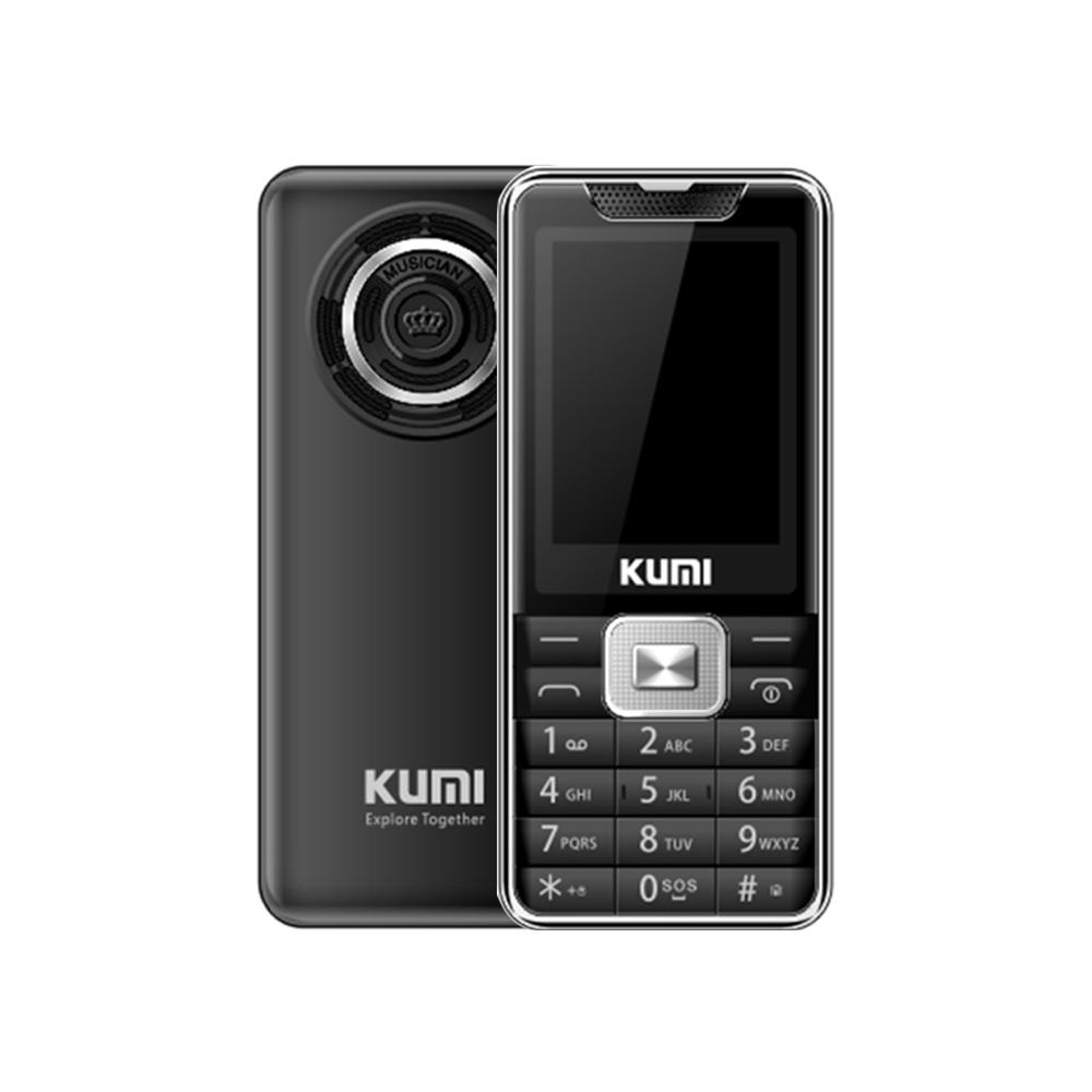 KUMI Mi1 met infraroodthermometerfunctie Telefoon Wereldwijde versie 2.4 Inch TFT-scherm 32 MB RAM 32 MB ROM 1700 mAh Batterij Dual SIM Dual Standby One Key SOS - Zwart