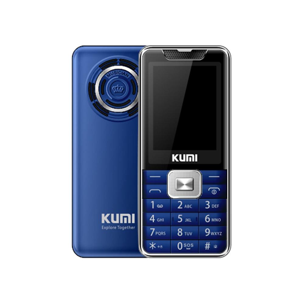 KUMI Mi1 com função de termômetro infravermelho Telefone Versão global Tela de 2.4 polegadas TFT 32MB RAM 32MB ROM 1700mAh Bateria Dual SIM Dual Standby Uma tecla SOS - Azul