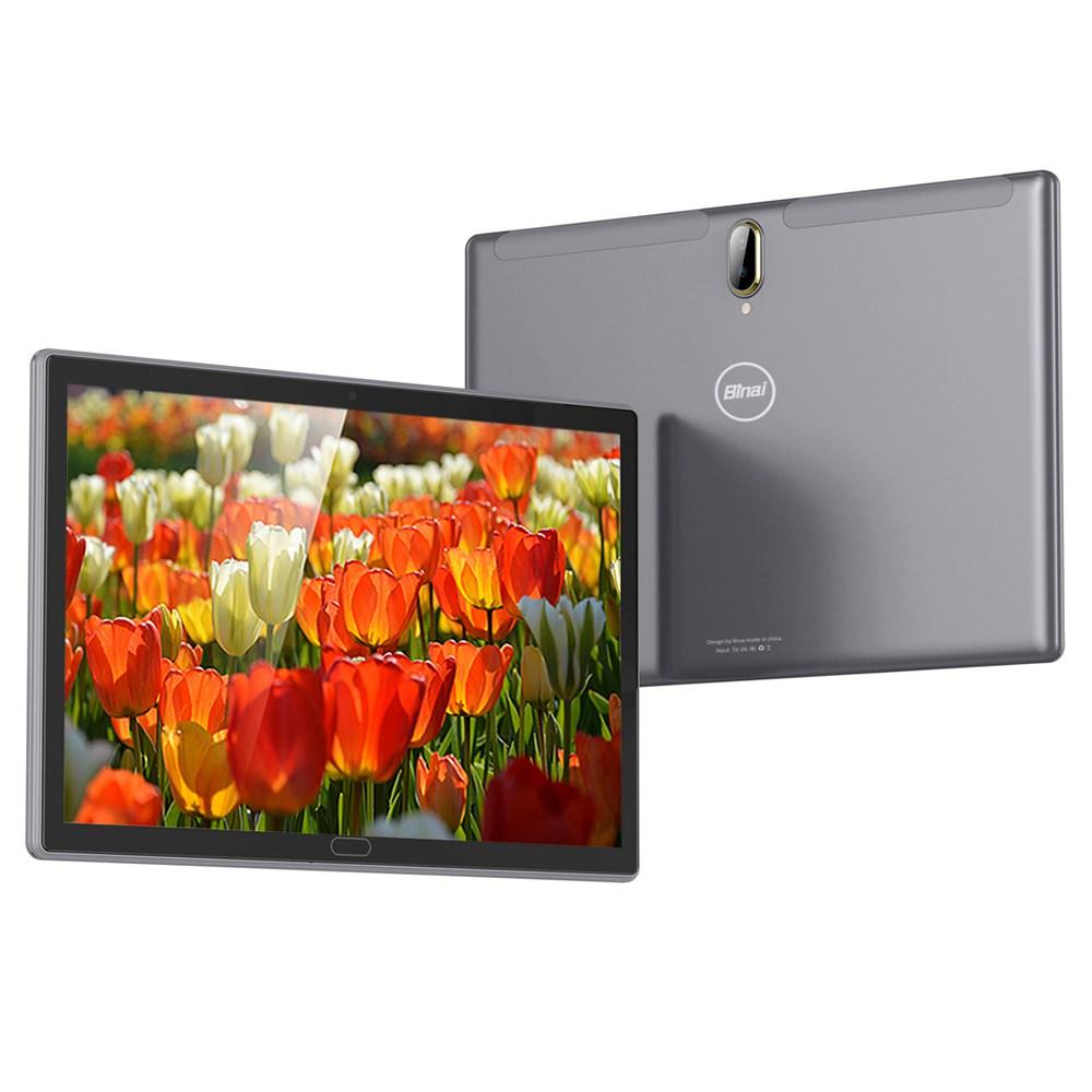 Binai M101 4G Tablet PC MTK6739CW Quad Core 10.1 Inch IPS Screen Android 8.1 3GB LPDDR3 32GB eMMC Dual Camera 6000mAh Battery English Global - Black