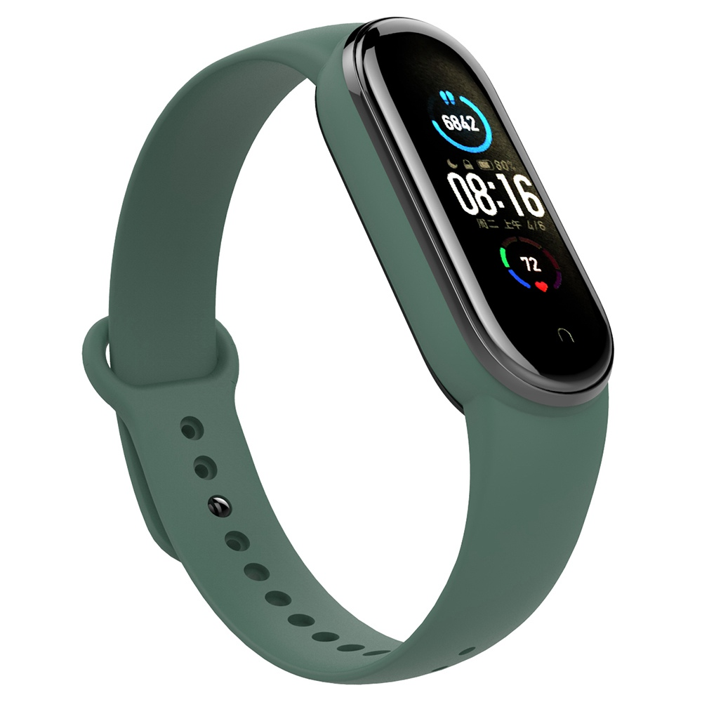 Replacement Silicon Bracelet Strap Band for Xiaomi Mi Band 5 - Green