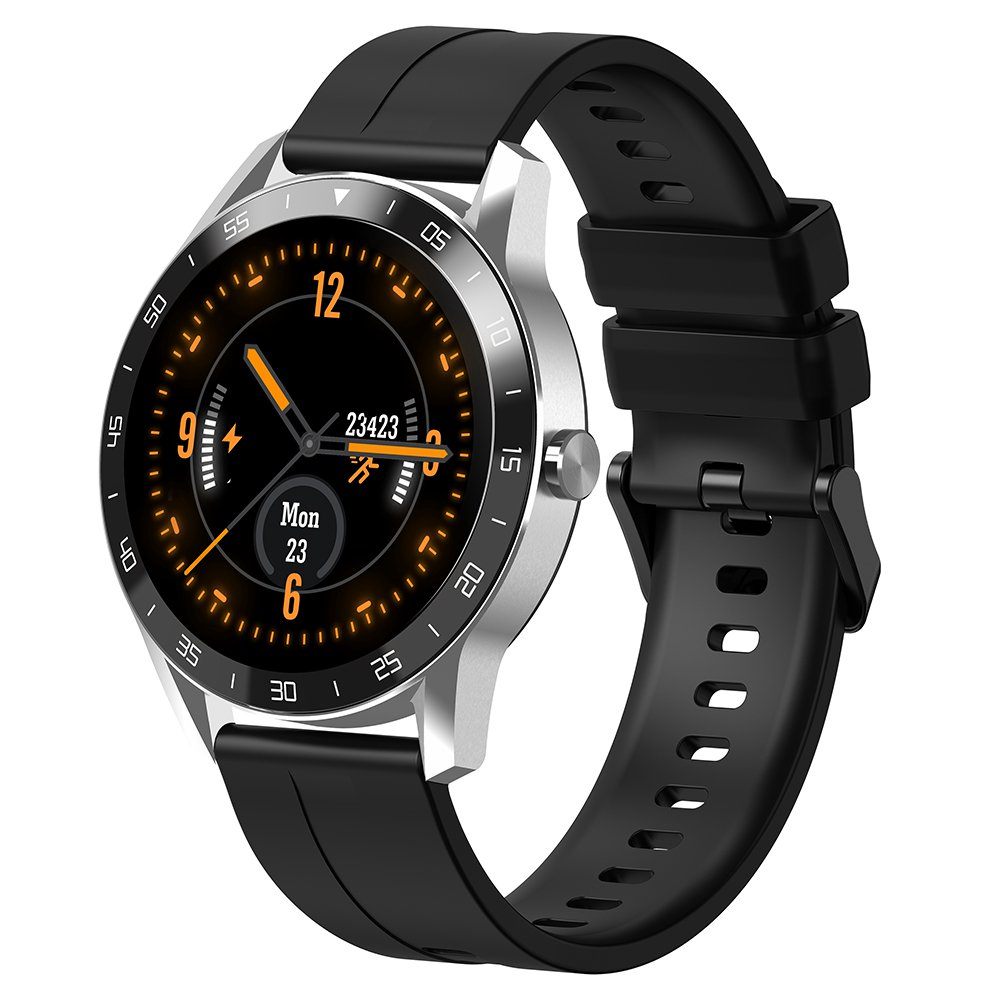Blackview X1 Smart Watch 5ATM Waterproof Heart Rate Monitor Multi-sports Modes - Silver