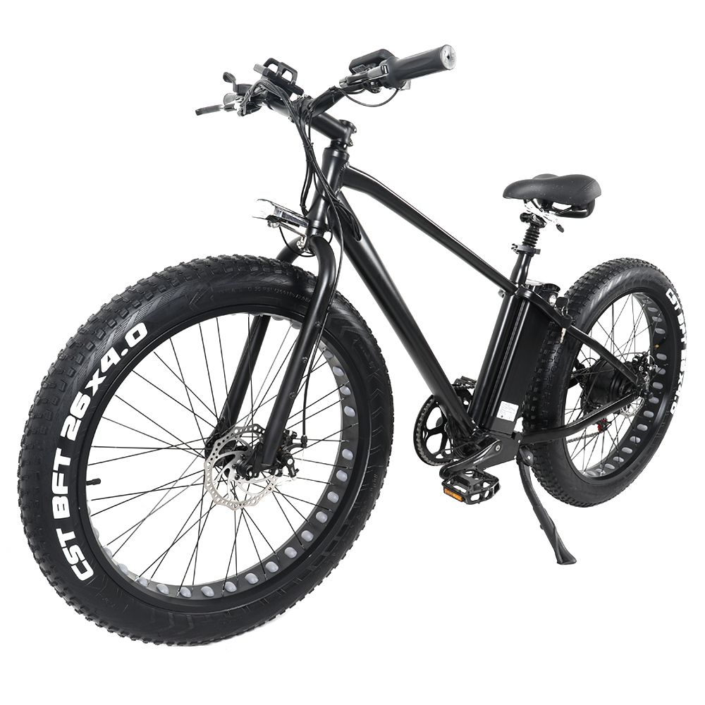 CMACEWHEEL GW26  Fat Tire Electric Moped Bicycle Black