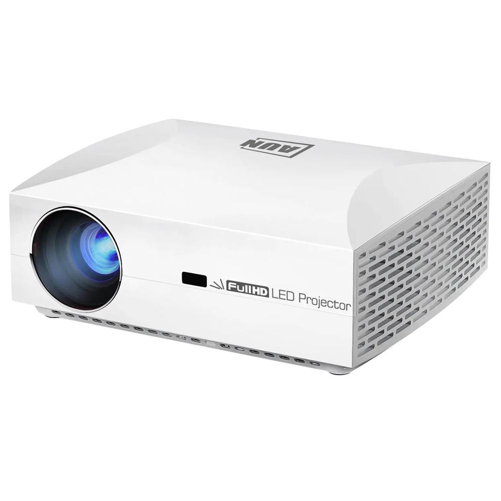 AUN F30 Native 1080P LED Projector 6500 Lumens 3D Home Theatre 5.8 Inch LCD يدعم 4K SPDIF HDMI USB 2 * 10W Speakers
