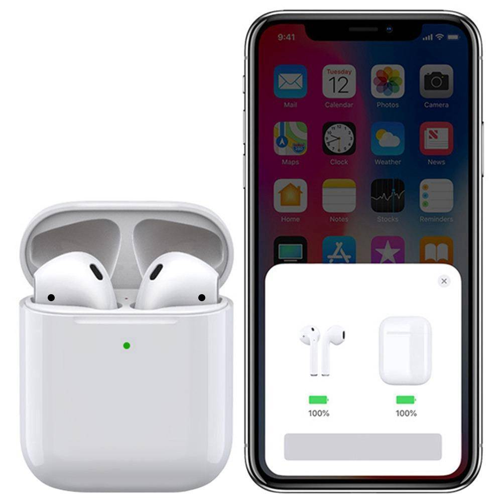 Apods i500 Bluetooth 5.0 Pop-up Window TWS Earbuds Wireless Charging Independent Usage IPX5 - White