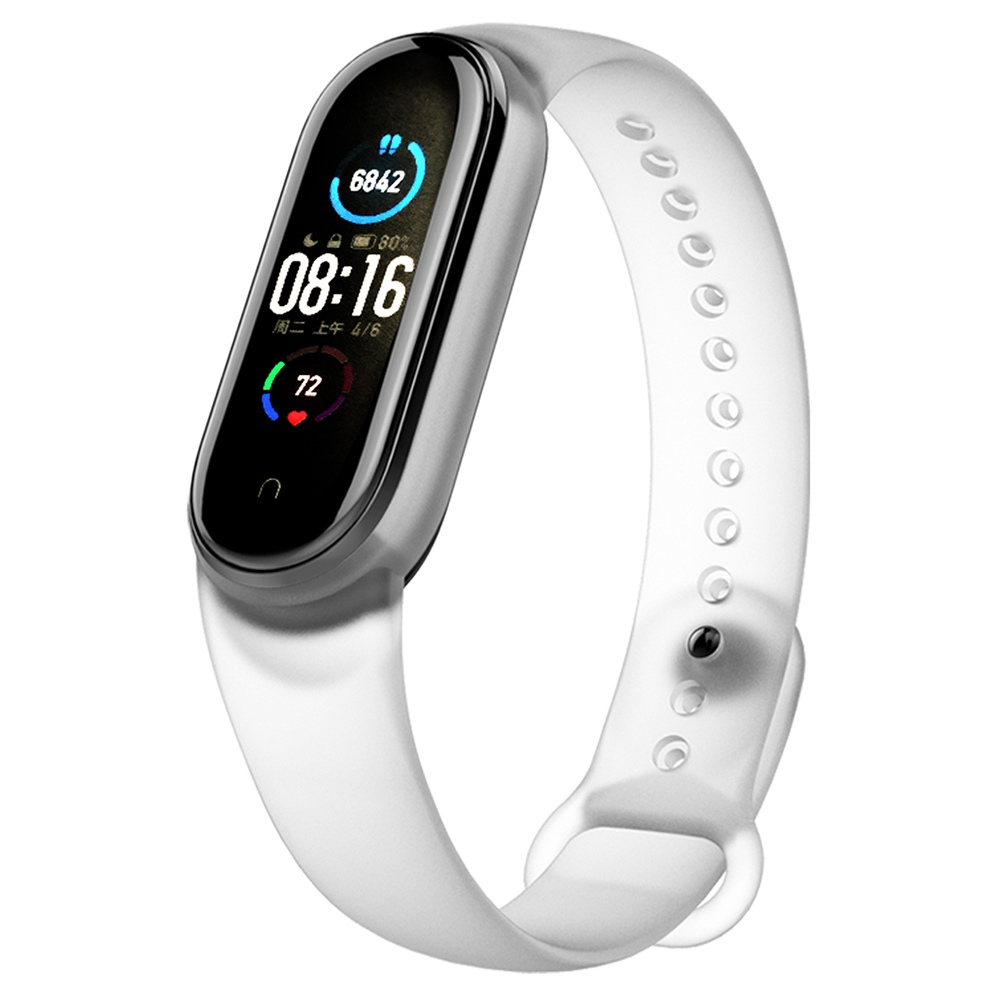 Replacement Silicon Bracelet Strap Band for Xiaomi Mi Band 5 - White