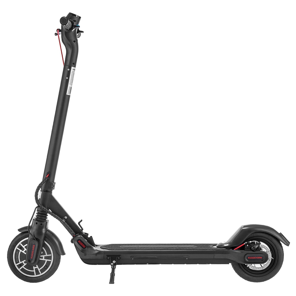KUGOO KIRIN ES2 Folding Electric Scooter 350W Motor LED Display Screen Max 25KM/H 8.5 Inch Pneumatic Tire - Black