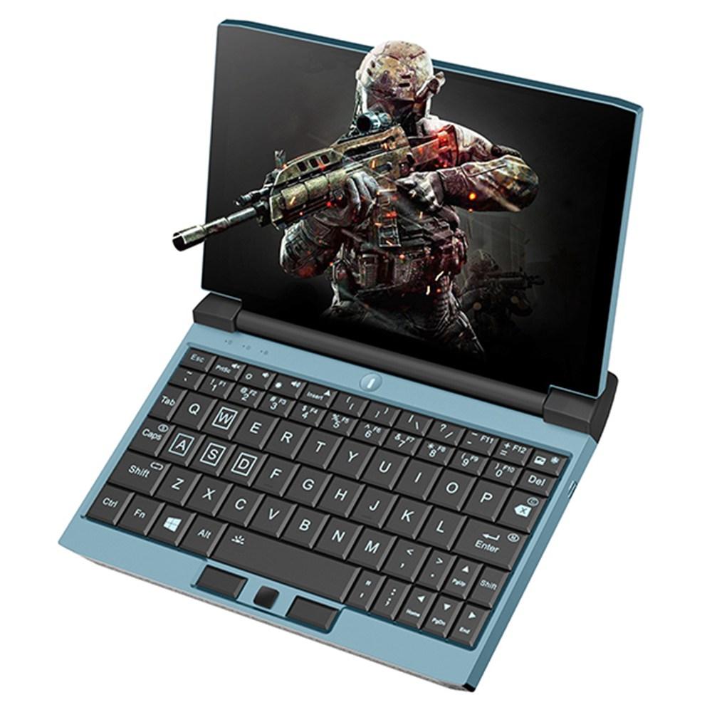 Ein Netbook OneGx1 Gaming-Laptop 7-Zoll 1920x1200 i5-10210Y 8 GB RAM 256 GB SSD WiFi 6 Windows 10 5G-Version - Blau