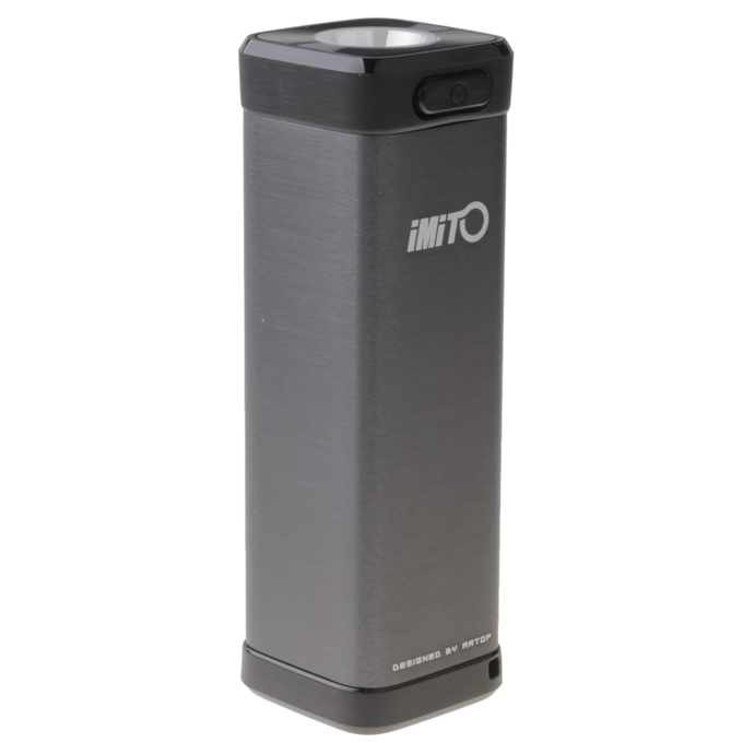 Imito Gadget Box S 4400MAH Mobile Power Bank IP54 Waterproof with TF Card Slot and Flashlight - Grey