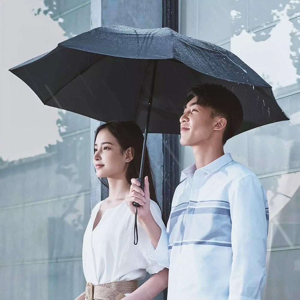 Xiaomi Youpinからの90FUNポータブル全自動逆折りたたみ照明傘アンチUV UPF50 +防風防風傘XNUMXつ折り-ブラック
