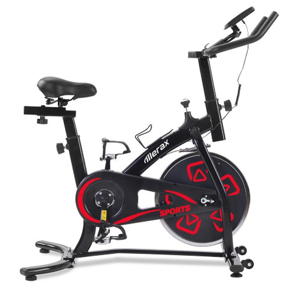 Merax Exercise Bike Indoor Bike με LCD Κονσόλα Ρυθμιζόμενο Κάθισμα και Χειρολαβή