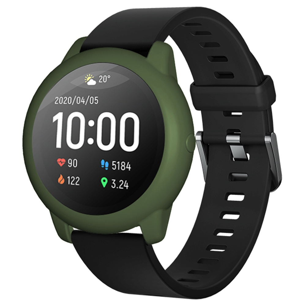 Soft Silicone Protective Shell For Xiaomi Haylou Solar LS05 Smartwatch - ArmyGreen