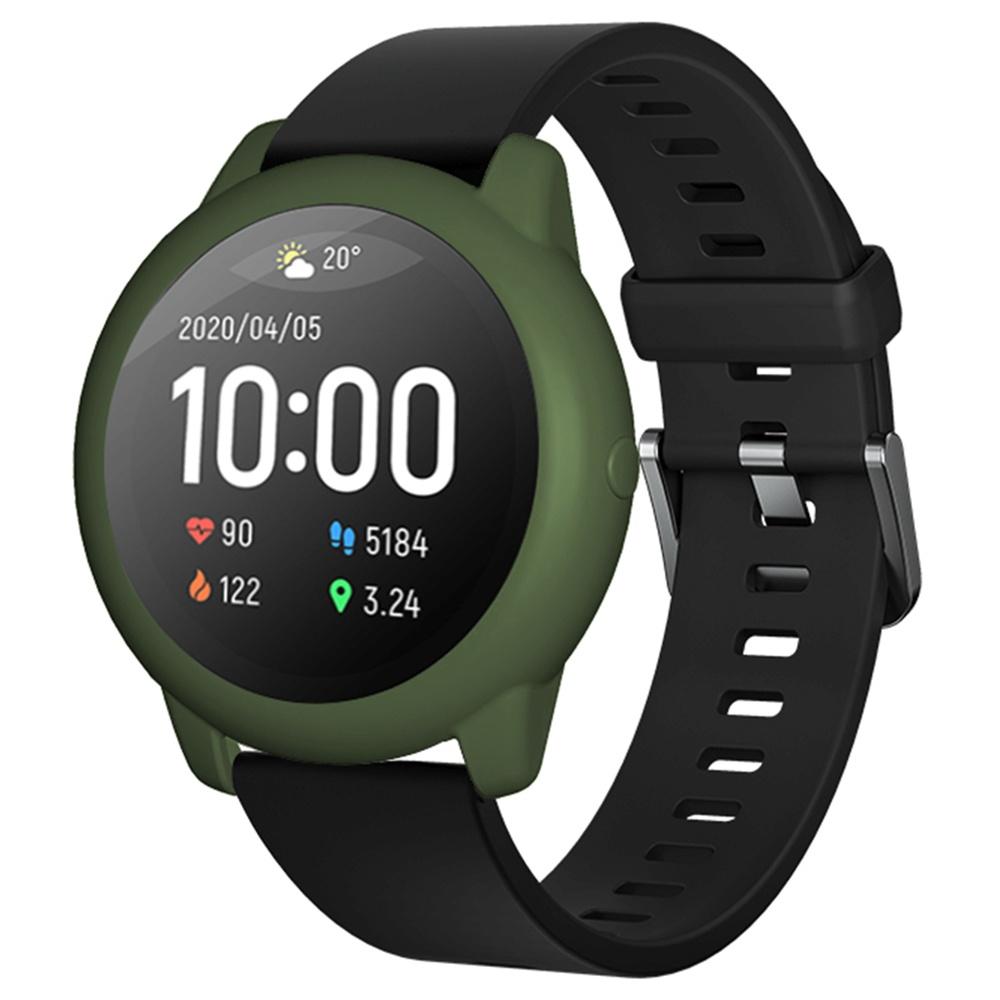 Capa protetora de silicone macio para Xiaomi Haylou Solar LS05 Smartwatch - ArmyGreen