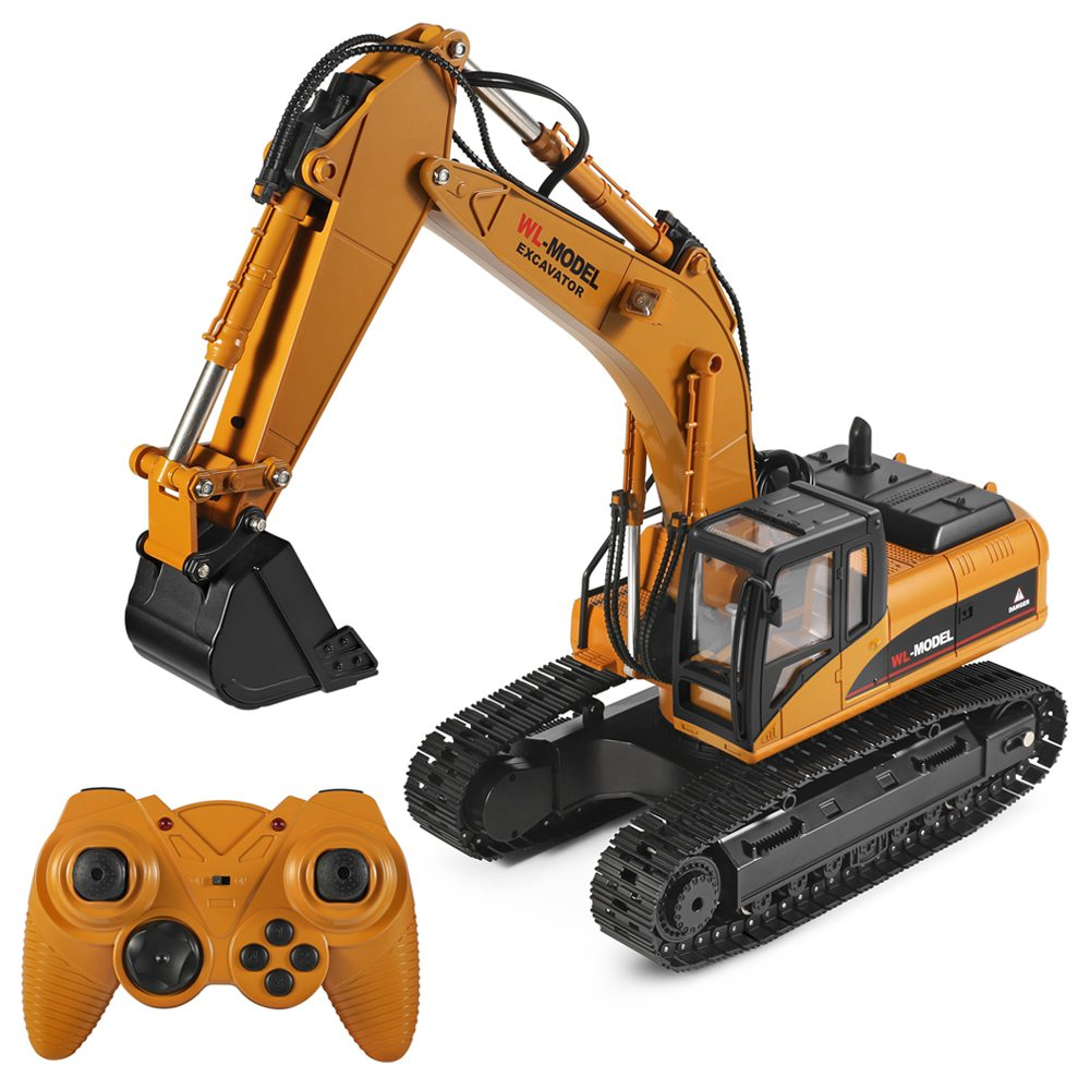 Wltoys 16800 2.4G 8CH 1/16 RC Excavator with Light Sound Function Engineering Vehicle RTR