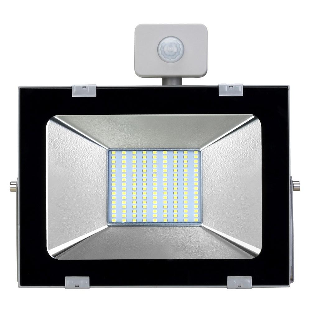 100W 8000 люменов вторичной переработки Открытый светодиодный свет IP65 Водонепроницаемый Индукция человеческого тела Автоматическое управление с датчиком - холодный белый