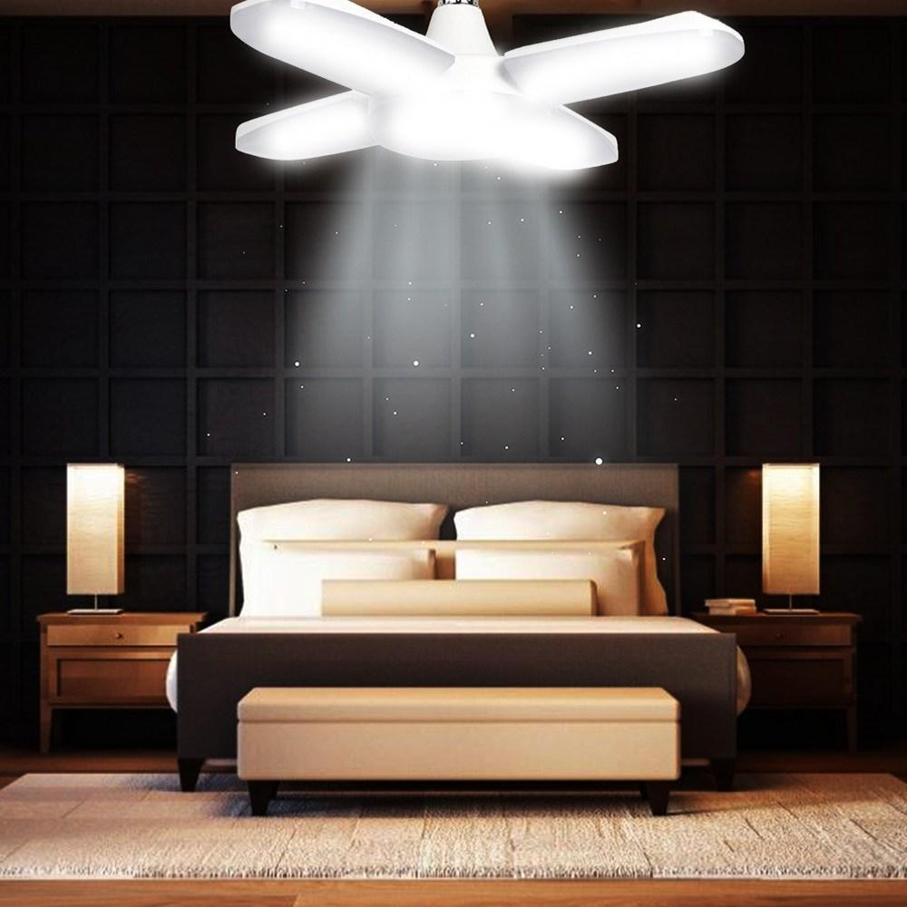 Светодиодный свет гаража 60W Регулируемый потолочный светильник Супер яркий промышленный светильник High Shed Деформируемый светодиодный свет кукурузы - белый