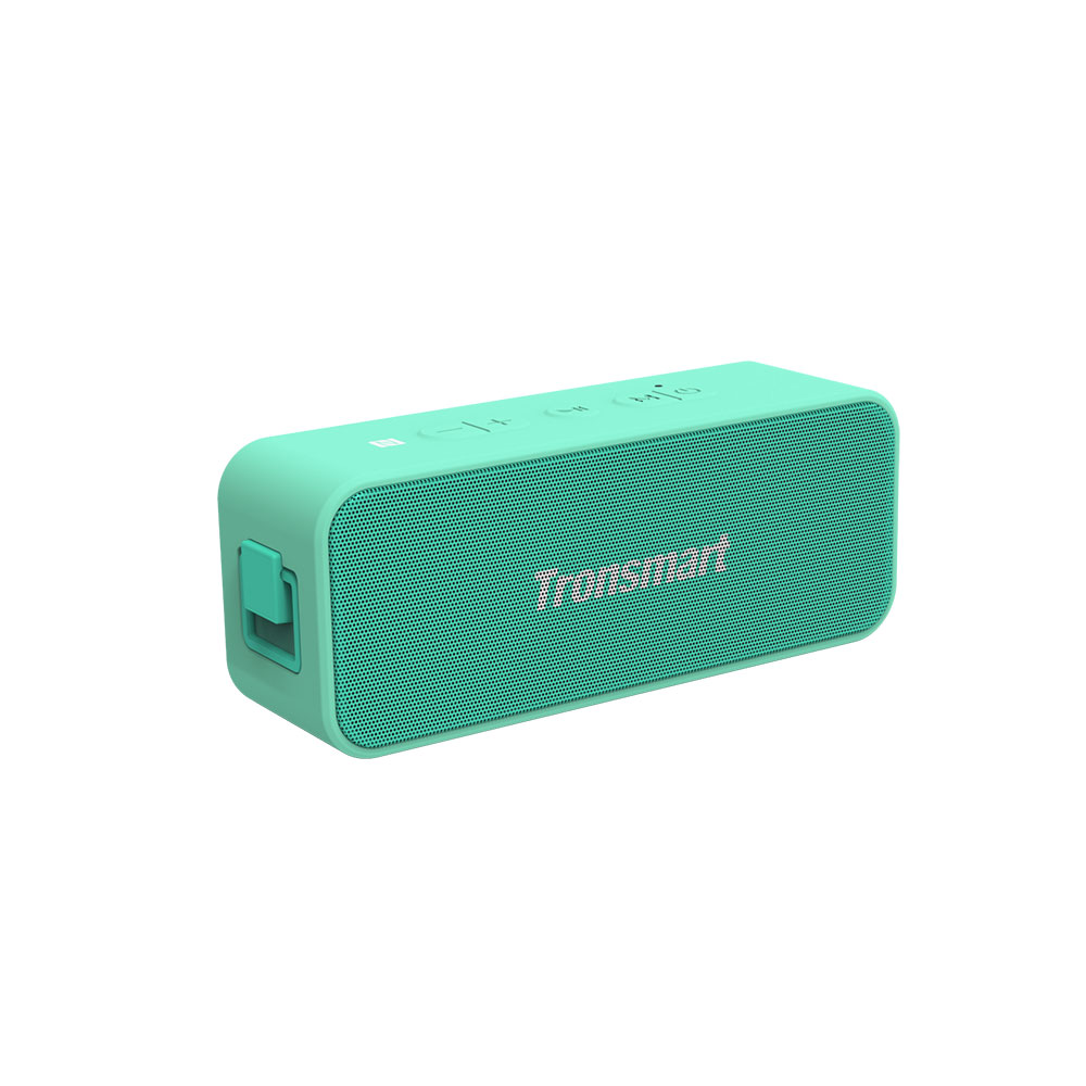Tronsmart T2 Plus 20W Bluetooth 5.0 Altavoz 24H Tiempo de reproducción NFC IPX7 Barra de sonido impermeable con TWS, Siri, Micro SD - Verde claro