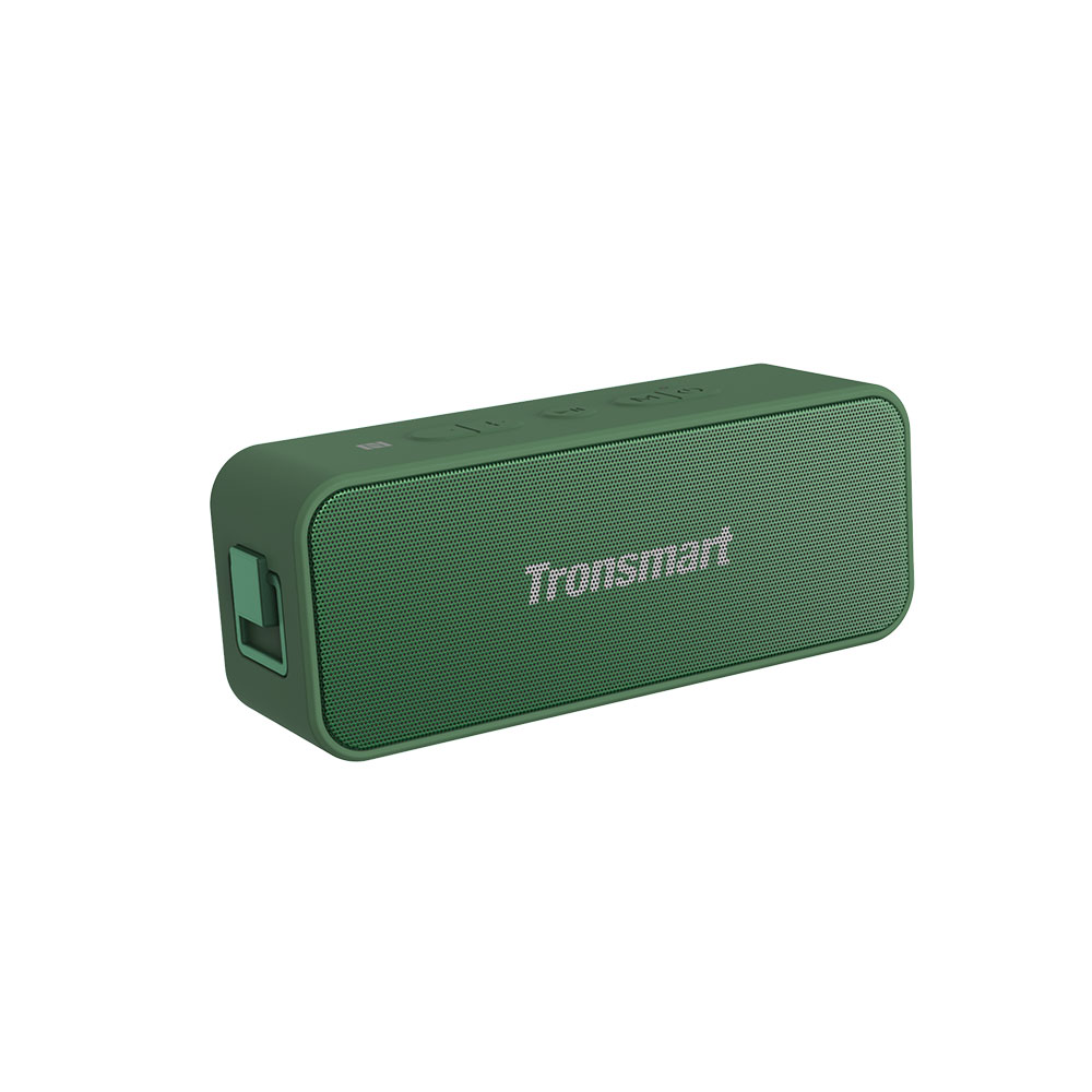 Tronsmart T2 Plus 20W Bluetooth 5.0 Altavoz 24H Tiempo de reproducción NFC IPX7 Barra de sonido impermeable con TWS, Siri, Micro SD - Verde oscuro