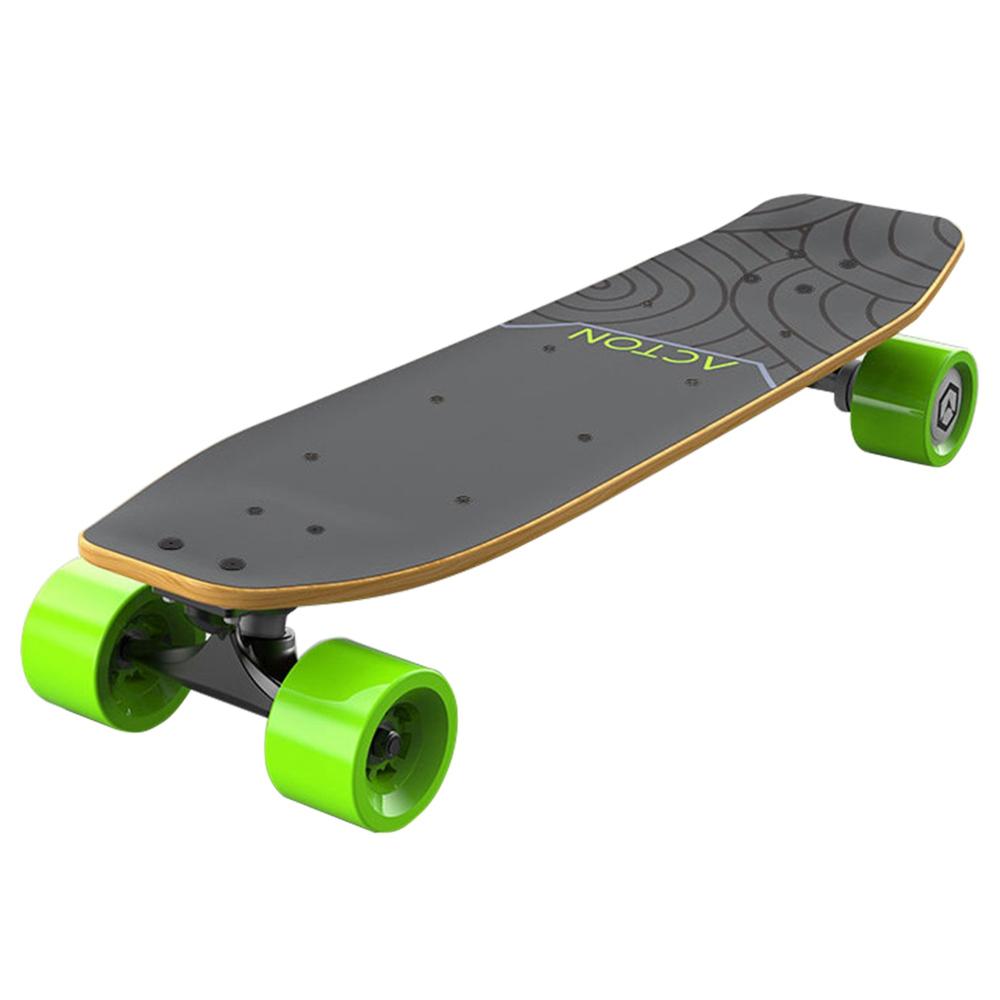 Xiaomi ACTON R1 Elektrisch skateboard Bluetooth Slimme afstandsbediening LED-lampje tot 12 km bereik Canadees esdoornhout - grijsgroen