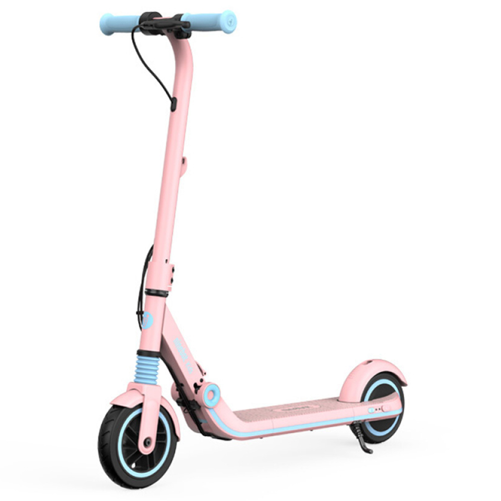 Ninebot Segway E8 Folding Electric Scooter for Kids 130W Motor 14km/h Max Speed 2550mAh/55.08Wh Battery BMS aluminum alloy Frame BMS TPR Handlebar up to 10KM Range - Pink