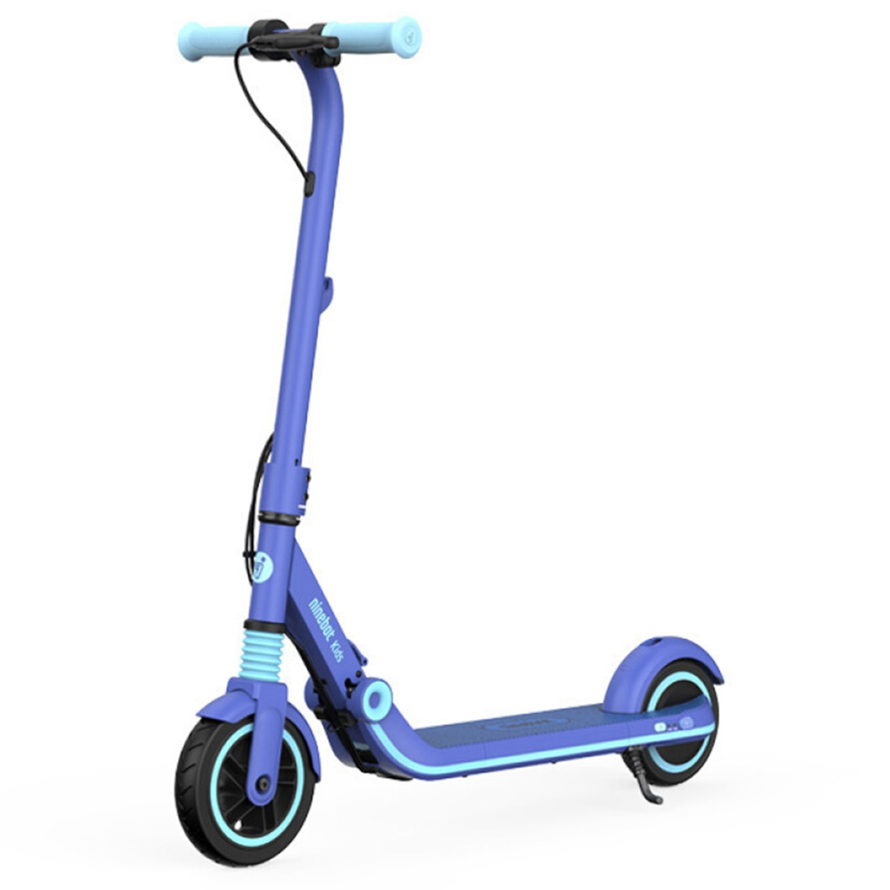 Ninebot Segway E8 Folding Electric Scooter for Kids 130W Motor 14km/h Max Speed 2550mAh/55.08Wh Battery BMS aluminum alloy Frame BMS TPR Handlebar up to 10KM Range - Blue