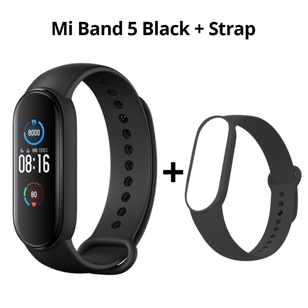 Xiaomi Mi Band 5 Смарт Браслет Bluetooth 5.0 Спорт Фитнес-Трекер Китайская Версия Черный + Черный Ремешок