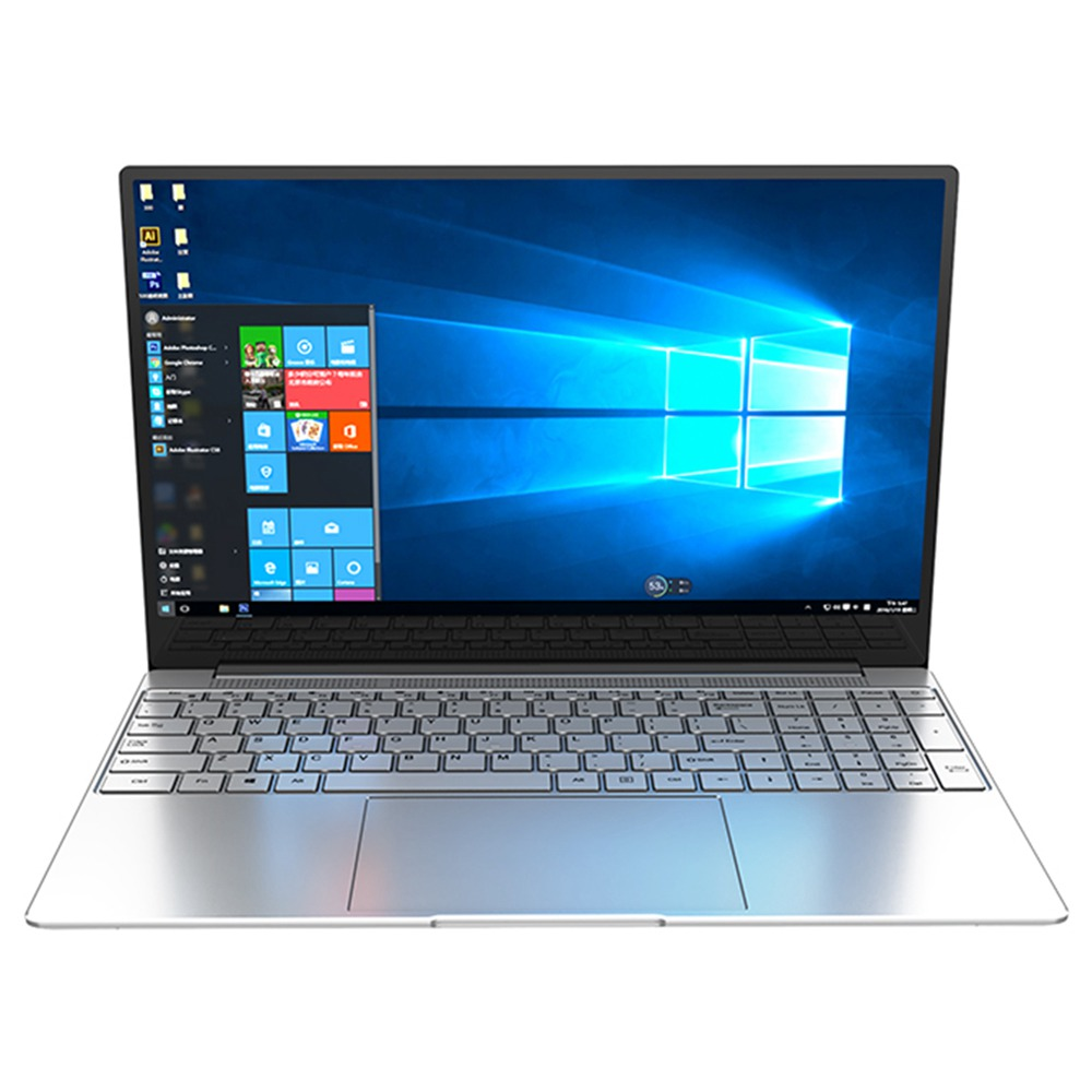 CENAVA F158G Laptop Intel Celeron J4105 15.6 Inch 1920 x 1080 IPS Screen Intel UHD Graphics 600 Windows 10 8GB DDR4 128GB SSD Full Size Backlit Keyboard English Version - Silver