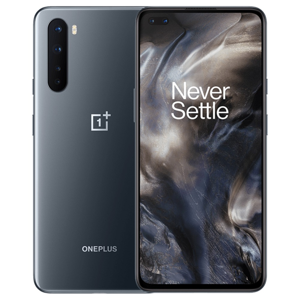 OnePlus Nord 5G Smartphone Global Version 6.44 Inch AMOLED 1080 x 2400 402PPI Screen Qualcomm Snapdragon 765G Android 10.0 8GB RAM 128GB ROM Dual Front Quad Rear Camera 4115mAh Battery - Gray Onyx