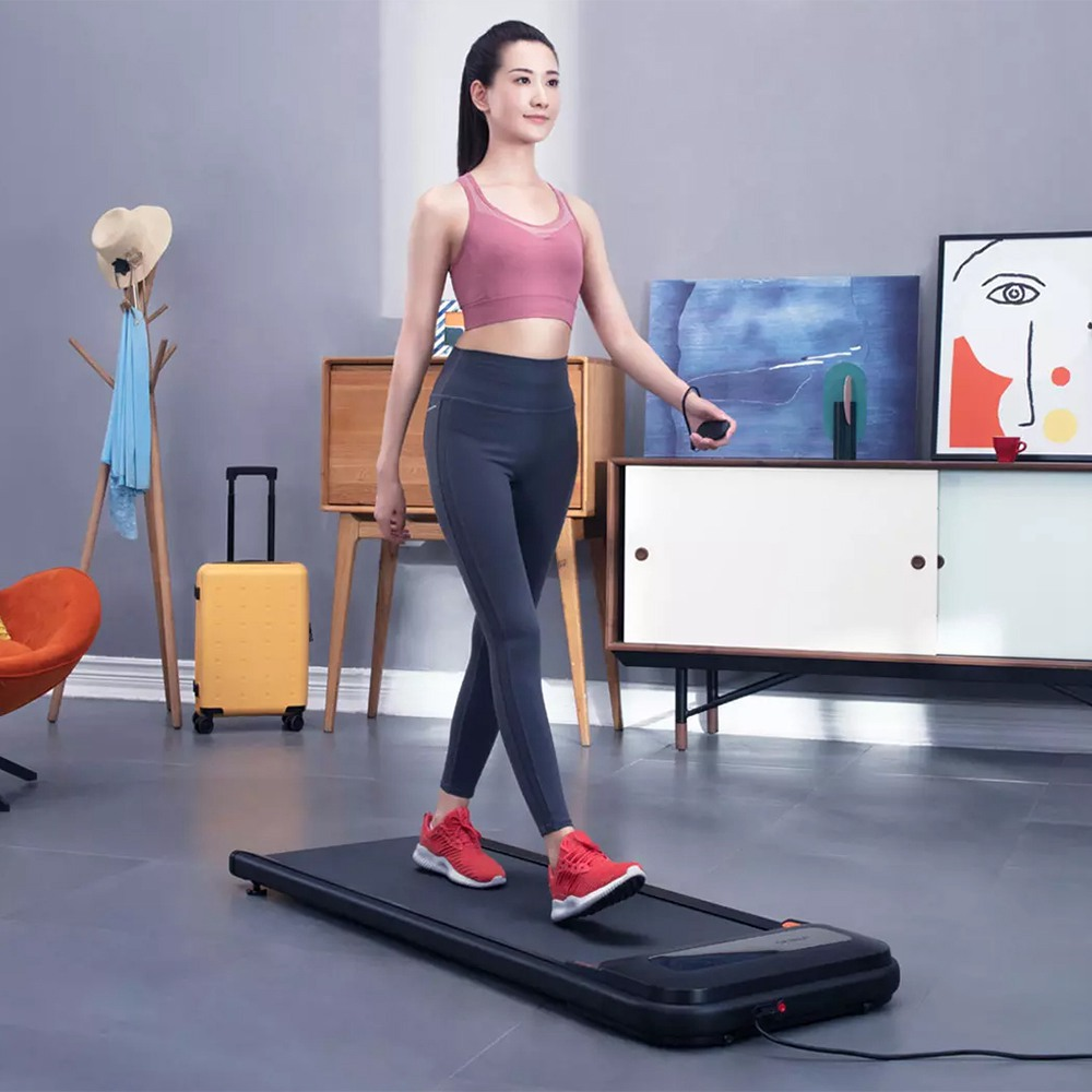 Xiaomi Urevo U1 Smart Walking Machine Tapis roulant ultrasottile per allenamento, attrezzatura da palestra per allenamento fitness, esercizio indoor e outdoor con telecomando wireless, display a LED, modalità a 3 velocità - Versione UE