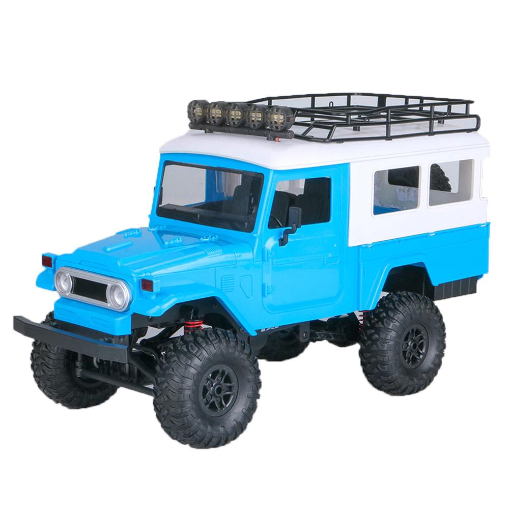 MN Modèle MN-40 1/12 2.4G 4WD Véhicule tout-terrain d'escalade RC Car RTR - Bleu