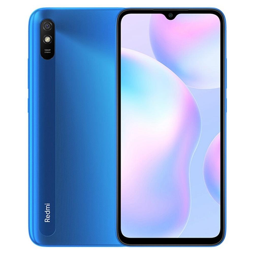 Xiaomi Redmi 9A CN 4G LTE okostelefon 6.53 hüvelykes HD DotDrop Screen MediaTek Helio G25 2 GB RAM 32 GB ROM MIUI 12 13MP AI Hátsó kamera 5000mAh akkumulátor Dual SIM Dual Standby - kék