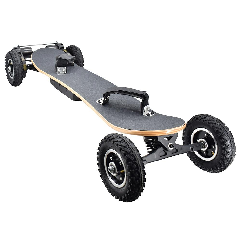 SYL-08 V3-versie Elektrisch offroad-skateboard met afstandsbediening 1450 W Motor tot 38 km / h 10 Ah Batterij Maple Plank Max. Belasting 130 kg - Zwart