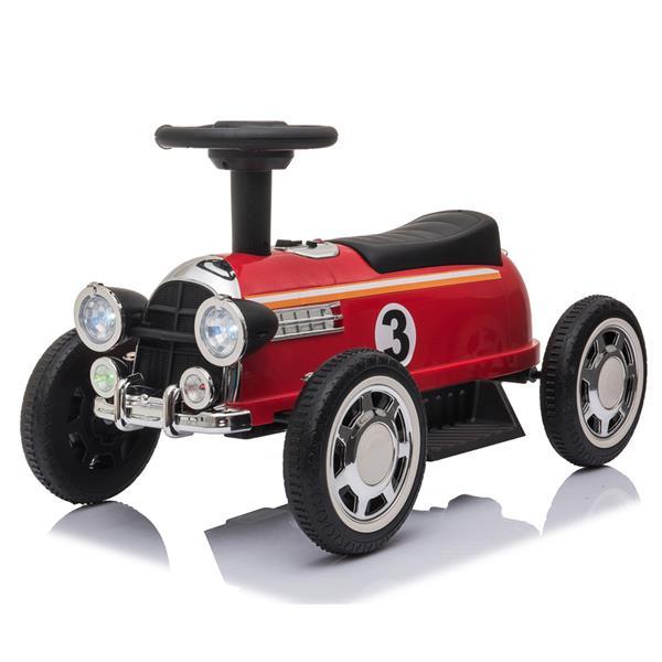 Gyerekek elektromos vezetés autóval 6V-os zenelejátszóval - piros