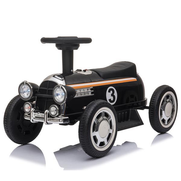 Gyerekek elektromos vezetése autóval 6V-os zenelejátszóval - fekete