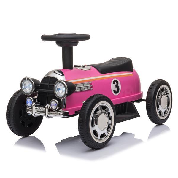 音楽プレーヤーLEDが付いている車の子供の電気乗車は6Vをつけます-ピンク