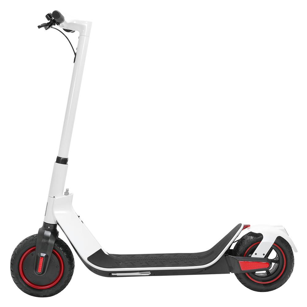 KUGOO G-Max Складной электрический скутер 10-дюймовая пневматическая шина 500W Бесщеточный двигатель 35 км / ч Максимальная скорость до 32 км Диапазон 36V 10.4AH Аккумулятор - белый