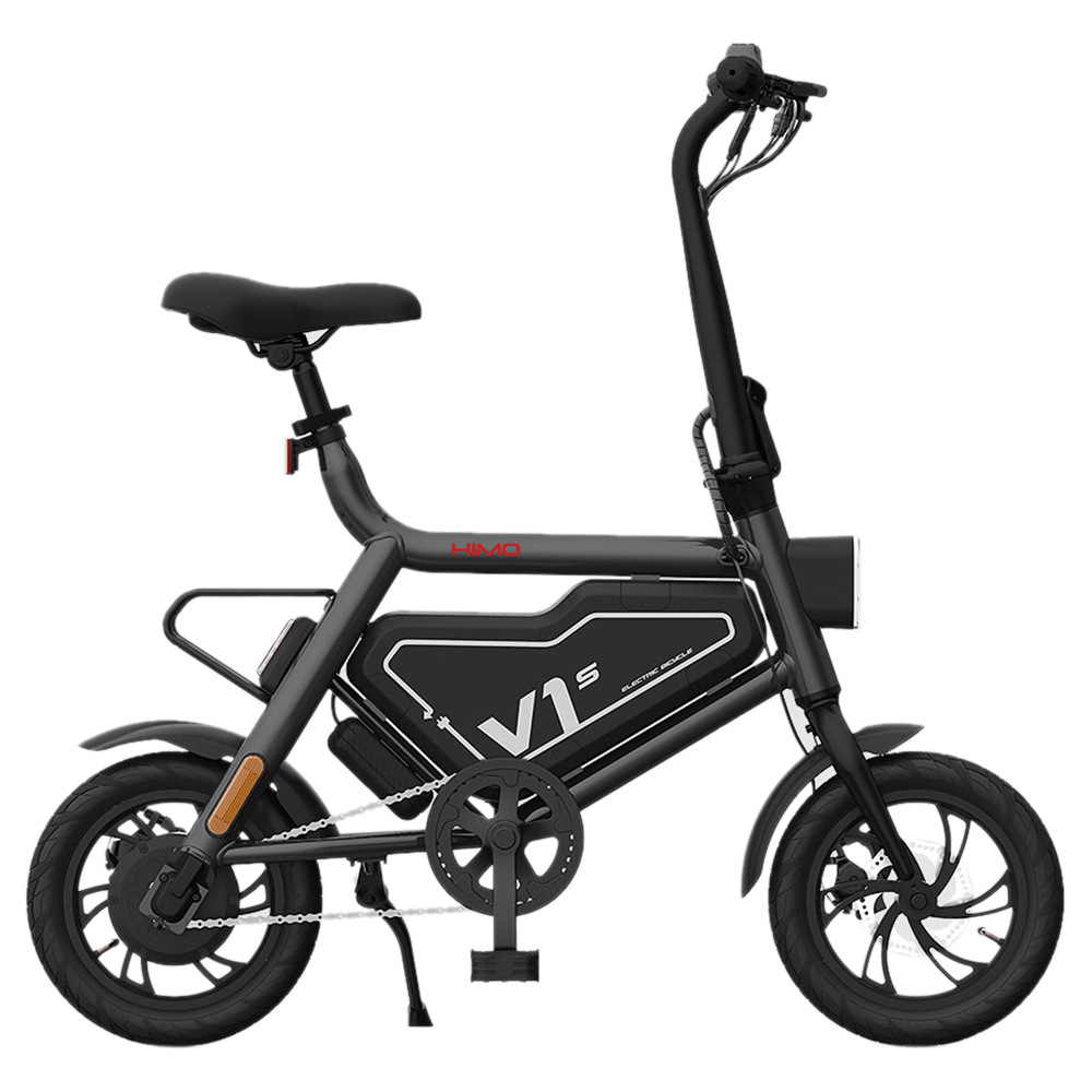 HIMO V1S 12 inch Portable Folding Electric Assist Bicycle 250W Motor 7.8Ah Li-ion Battery Ergonomic Design Multi-mode Riding Aluminum alloy Frame LED