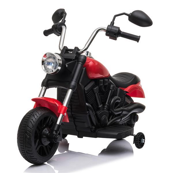 キッズトレーニングホイール付きオートバイの電動ライド6V-赤