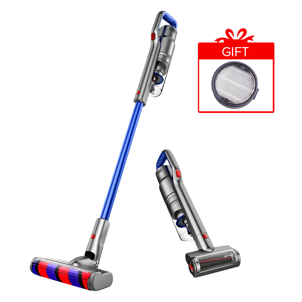 JIMMY JV63 Handheld Cordless Stick Vacuum Cleaner 130AW Suction Anti-winding Hair Mite 60 Minutes Run time - Blue фото