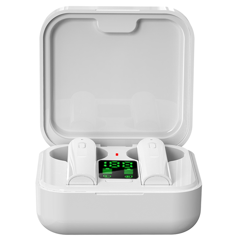 Air 6 Pro TWS Earphones Charging Case with LED Display IPX4 Water Resistant Auto Connect Voice Assistant