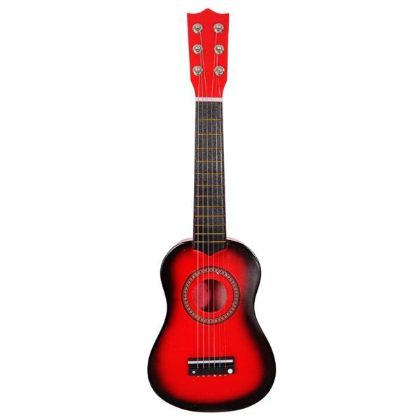 """21 """"beginners akoestische gitaar 6-snarige oefenmuziekinstrumenten - rood"""