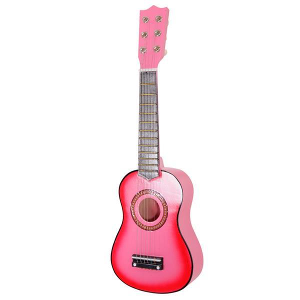 """21 """"Guitare Acoustique Débutant 6 Instruments de Musique de Pratique à Cordes - Rose"""