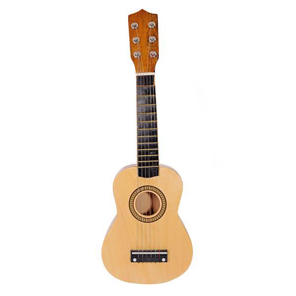 """21 """"beginners akoestische gitaar 6-snarige oefenmuziekinstrumenten - houtkleur"""