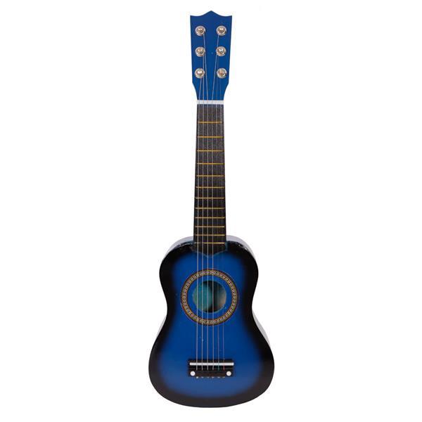 """21 """"beginners akoestische gitaar 6-snarige oefenmuziekinstrumenten - blauw"""