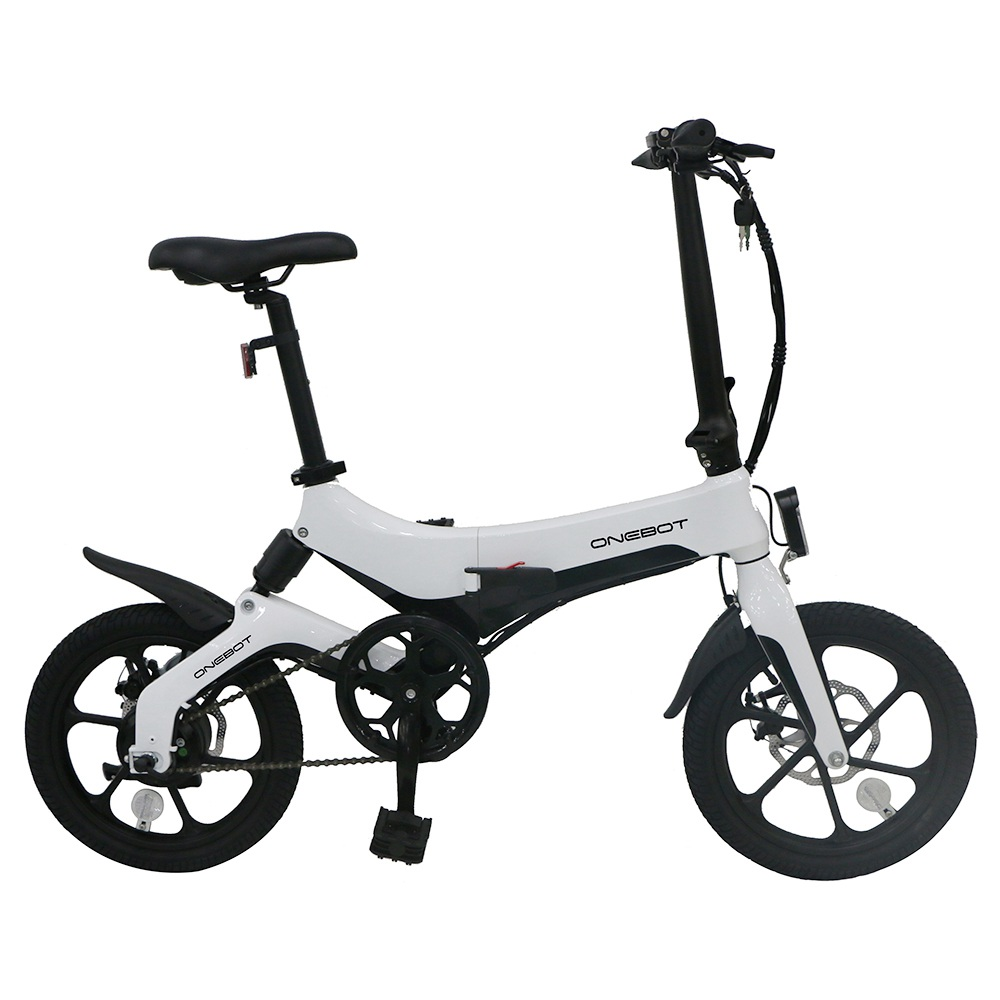 ONEBOT S6 Portable Folding Electric Bike 250W Motor Max 25km/h 6.4Ah Battery - White