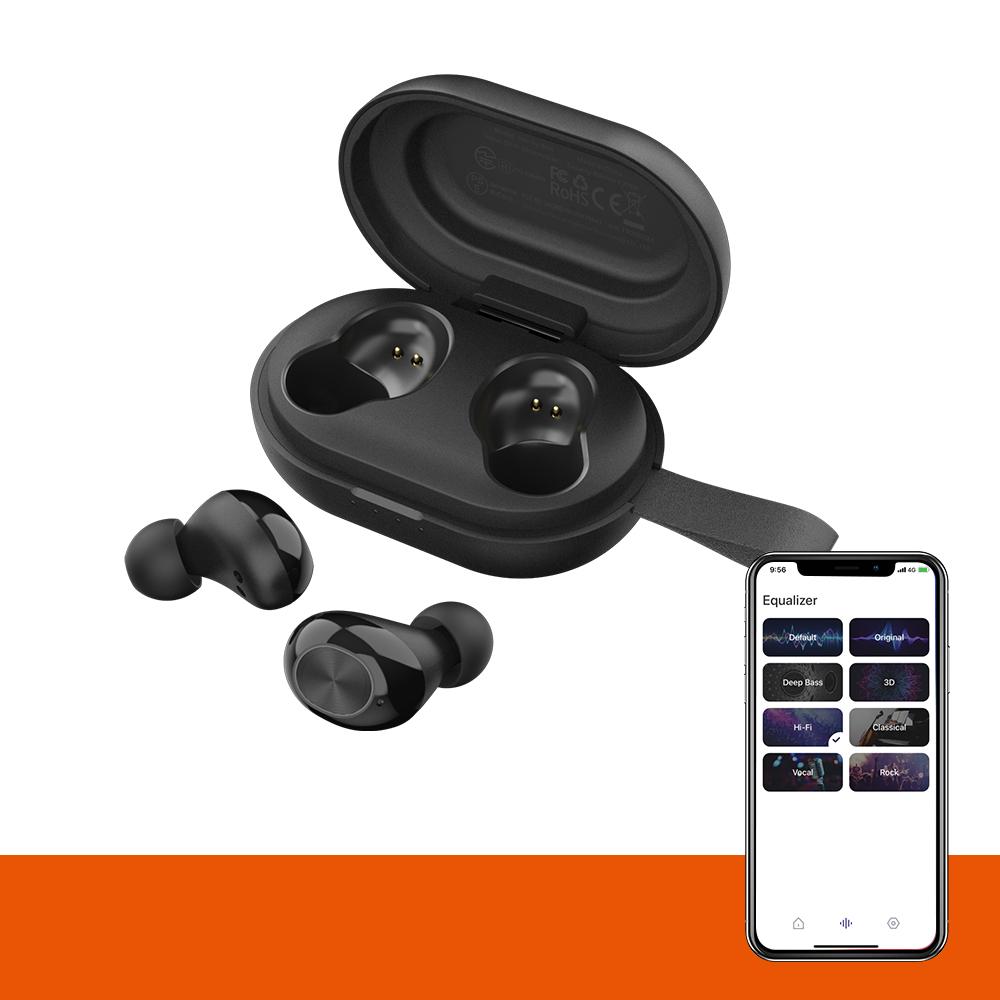 Tronsmart Spunky Beat z kontrolą aplikacji Bluetooth 5.0 TWS CVC 8.0 Słuchawki douszne Qualcomm QCC3020 Niezależne użycie aptX / AAC / SBC 24H Czas odtwarzania Siri Google Assistant IPX5