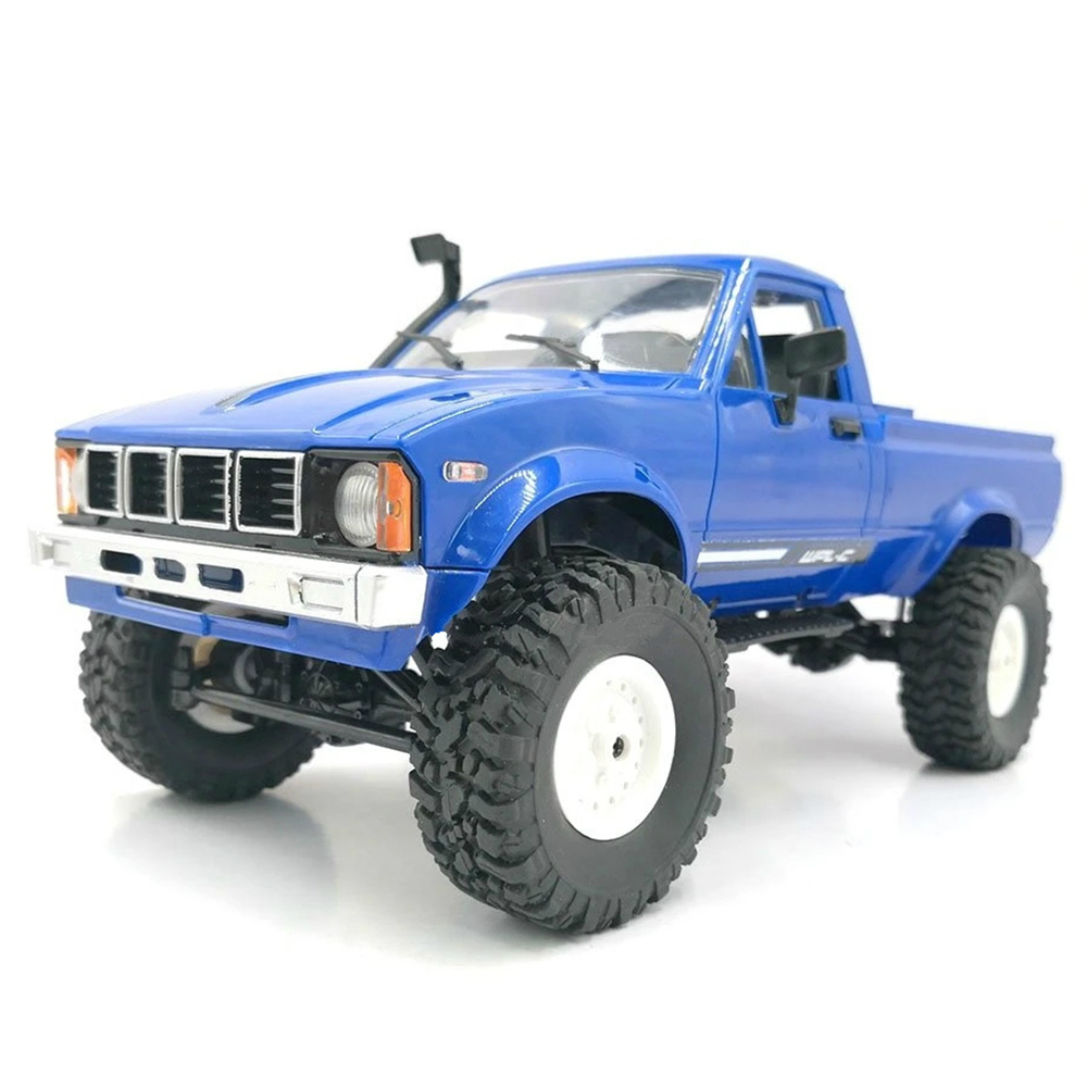 WPL C24KM 1/16 4WD fuoristrada Rock Crawler Climbing Vehicle RC Car Kit - Blu