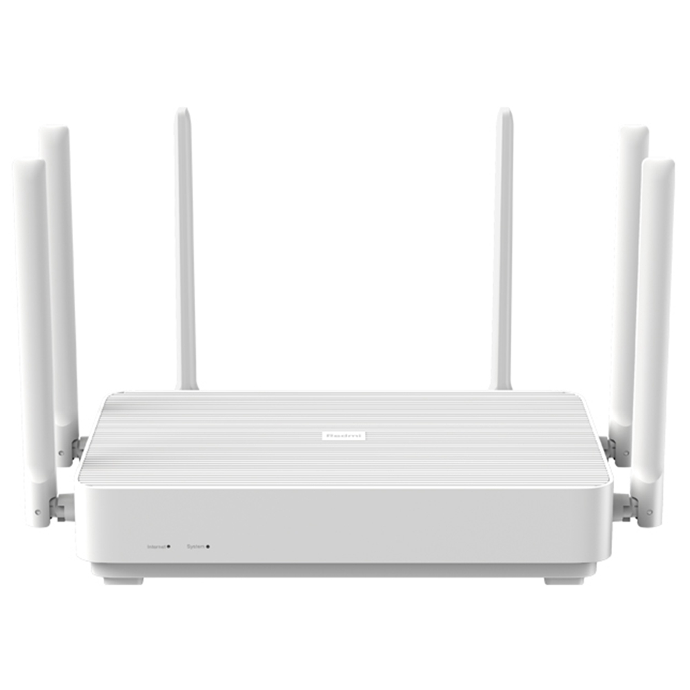 Xiaomi Redmi AX6 Router 6 Core WiFi 6 Dual Band Wireless WiFi Router Support Mesh OFDMA 2976MBps 6xAntennas 512MB Wireless Signal Booster Enfants Protection - Blanc