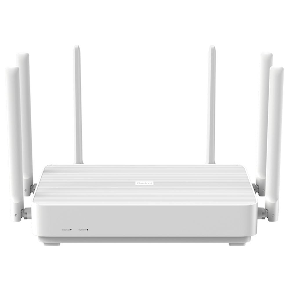 Xiaomi Redmi AX6 Router 6 Core WiFi 6 Dualband Wireless WiFi Router Unterstützung Mesh OFDMA 2976MBps 6xAntennas 512MB Wireless Signal Booster Kinderschutz - Weiß