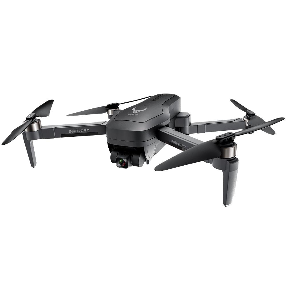 ZLRC SG906 Pro 2 4K GPS 5G WIFI FPV avec cardan 3 axes positionnement de flux optique Drone RC sans balais noir - trois batteries avec sac